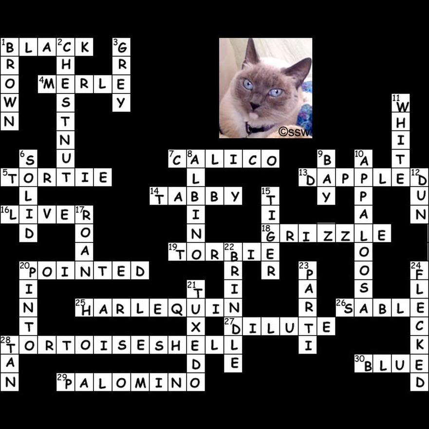 Answers to Hairy, Furry Crossword Puzzle